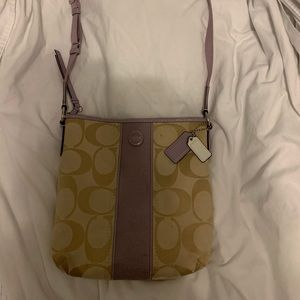 Coach Bags - Light purple & tan Coach purse